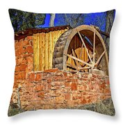 Crescent Moon Ranch Water Wheel Throw Pillow