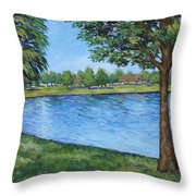 Crest Lake Park Throw Pillow
