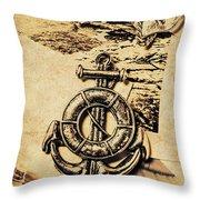 Crest Of Oceanic Adventure Throw Pillow