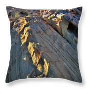 Crest Of Sandstone Wave At Sunset In Valley Of Fire Throw Pillow