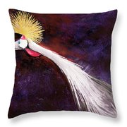 Crested Bird Throw Pillow