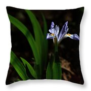 Crested Iris In Lost Valley Throw Pillow