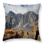 210925-crestone Needle And Peak  Throw Pillow