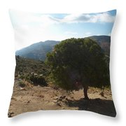 Crete Inland View Throw Pillow