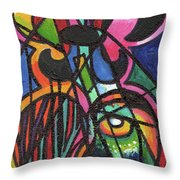Creve Coeur Streetlight Banners Whimsical Motion 19 Throw Pillow