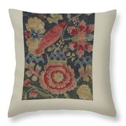 Crewel Embroidered Panel Throw Pillow