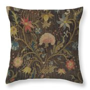 Crewel Embroidery For Chair Seat Throw Pillow