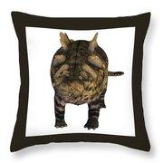 Crichtonsaurus On White Throw Pillow