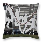 Cricket Art Sculpture Southampton Throw Pillow