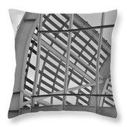 Cricket Stadium Architecture Black And White Throw Pillow