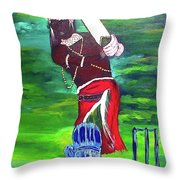 Cricket Warrior Throw Pillow