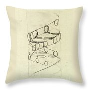 Cricks Original Dna Sketch Throw Pillow