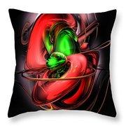 Crimson Affection Abstract Throw Pillow