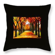 Crimson Alley Throw Pillow