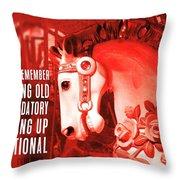 Crimson Carousel Quote Throw Pillow