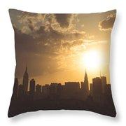 Crimson City IIi Throw Pillow
