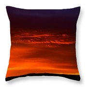 Crimson Dawn  Throw Pillow