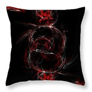 Crimson Dream Throw Pillow