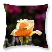 Crimson Gold Lavender Throw Pillow