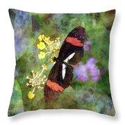 Crimson Longwing Butterfly 8231 Idp_2 Throw Pillow