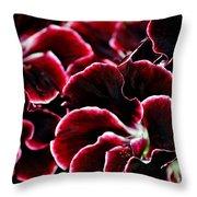 Crimson Propellers Throw Pillow