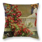 Crimson Rambler Throw Pillow by Philip Leslie Hale