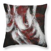 Crimson Red Throw Pillow