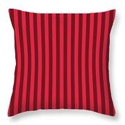 Crimson Red Striped Pattern Design Throw Pillow