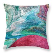 Crimson Rising  Throw Pillow