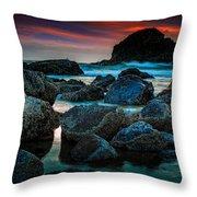 Crimson Skies Throw Pillow