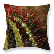 Crimson Thorns 2 Throw Pillow