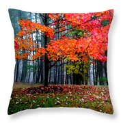Crimson Tree Throw Pillow
