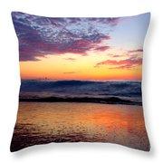 Crimson Wave Art 2 Throw Pillow
