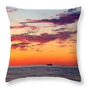 Crimson Yachting  Throw Pillow