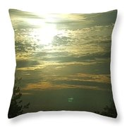 Crinkled Forehead Lines In The Sky Throw Pillow