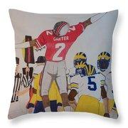 Cris Carter - Ohio State Throw Pillow
