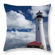 Crisp Point Lighthouse 7 Throw Pillow