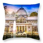 Cristal Palace Retiro Madrid Throw Pillow