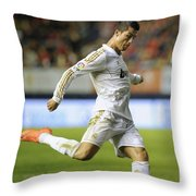 Cristiano Ronaldo 2 Throw Pillow