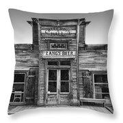 Criterion Hall Saloon -- Montana Territories Throw Pillow