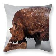 Cro-magnon Skull Throw Pillow