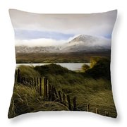 Croagh Patrick, County Mayo, Ireland Throw Pillow by Peter McCabe