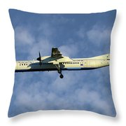 Croatia Airlines Bombardier Dash 8 Q400 Throw Pillow