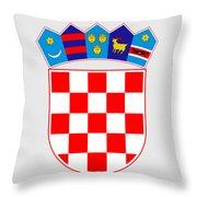 Croatia Coat Of Arms Throw Pillow