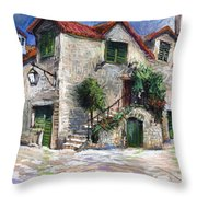 Croatia Dalmacia Square Throw Pillow