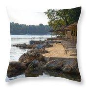 Croatia Seaside Throw Pillow