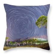 Croatia Star Trails Throw Pillow