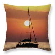 Croatian Sunset Throw Pillow