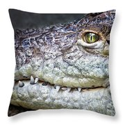 Crocodile Eye Throw Pillow