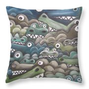 Crocodile Soup Throw Pillow